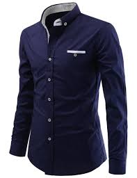 Gents Shirt Pocket Design Mens Modern Fit Layered Pocket Patch Button Down Dress