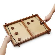 Wooden Puck Game Extraordinary Handmade Pucket Family Game Night Wood Game UncommonGoods
