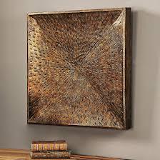 square bronze metal wall art