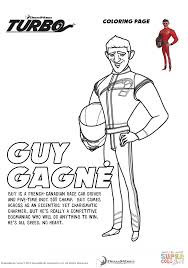 Small Picture Guy Gagn from Turbo coloring page Free Printable Coloring Pages