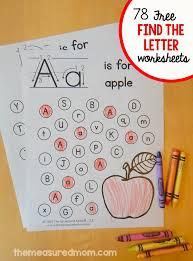 letter find worksheets the mered mom