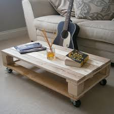 Industrial Looking Coffee Tables Clear Waxed Rustic Industrial Style Pallet Coffee Table