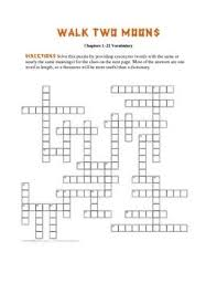 best walk two moons images walk two moons these two crossword puzzles are based on vocabulary from walk two moons every answer is
