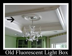 when remove recessed fluorescent light box how to fix keep the existing