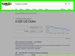 Money Conversion Chart Pesos To Dollars How To Create A Currency Converter With Microsoft Excel