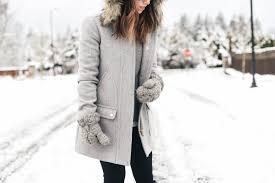 j crew faux fur hood wool coat