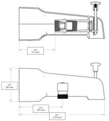 installation diagram view detailed dimensions add a shower diverter tub spout
