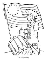 First American Flag Coloring Page History Timeline Coloring Pages