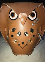 unique leather owl purse