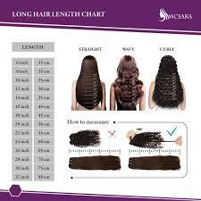 Mcsara Hair Length Chart Mcsara Hair