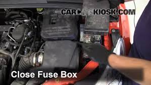 replace a fuse 2012 2016 ford focus 2012 ford focus se 2 0l 4 Fuse Box For 2012 Ford Focus 6 replace cover secure the cover and test component fuse box diagram for 2012 ford focus