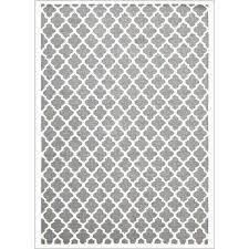 bazaar grey trellis wool rug rugs of beauty runner