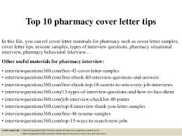 Top 10 Pharmacy Cover Letter Tips
