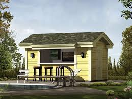 Terrific Pool House Plans With Bar Gallery Exterior ideas 3D
