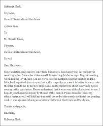 formal resignation letter format format for resignation letter