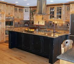 Rustic Solid Oak Wood Counter Tops Kitchen Cabinet Sink Oven Light
