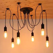 Us 3249 33 Offmordern Nordic Retro Edison Birne Licht Kronleuchter Vintage Loft Antiken Verstellbare Diy E27 Kunst Spinne Deckenleuchte Leuchte