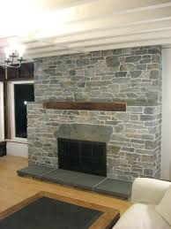 Dry Stack Fireplace Surrounds Stone Veneer Cost Installation