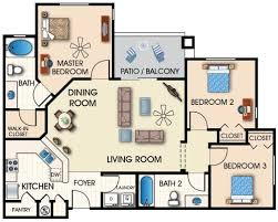 2 3 bedroom apartments furniture layouts apartment furniture layout