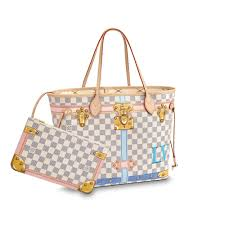 neverfull mm damier azur canvas in women s handbags shoulder bags and totes collections by louis vuitton