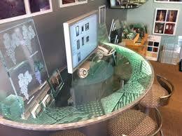 custom glass table top design matrix edge counter top