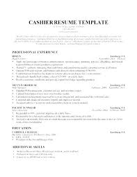 Cashier Resume Examples Magnificent Supermarket Cashier Resume Sample Template Bank Cv Resumes Verbeco