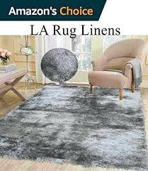 light gray rug fluffy shimmer modern thick plush soft pile living room bedroom floor