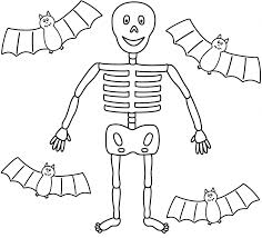 Small Picture Other Printable Skeleton Pictures Skeleton Coloring Pages To