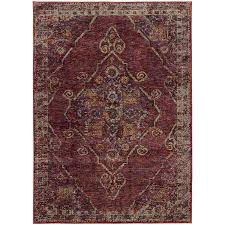 oriental weavers andorra 7135e red gold area rug