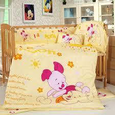 winnie pooh crib bedding set the pooh yellow crib bedding sets baby bedding sets disney baby