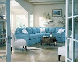 Themed Living Room Soft Blue Comfortable Sectional Sofa For Elegant Beach Themed
