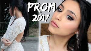 prom makeup 2017 white dress