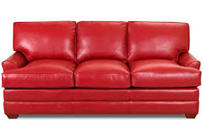 chic full size leather sleeper sofa red leather sofa sleeper full size modern sofa