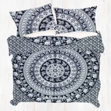 full size duvet cover. Black And White Elephant King Size Mandala Duvet Cover Full