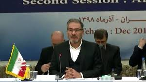 Image result for شمخانی در پایان نشست امنیتی تهران