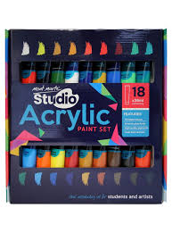 studio acrylic paint set 18pce x 36ml