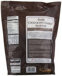 amazon kirkland dark chocolate covered almonds with turbinado sugar and sea salt 32 ounce grocery gourmet food