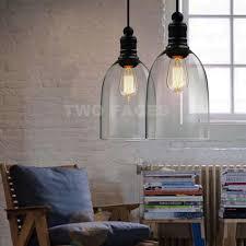 industrial loft lighting. MODERN VINTAGE INDUSTRIAL LOFT BAR METAL GLASS PENDANT LAMP SHADE CEILING LIGHT Industrial Loft Lighting