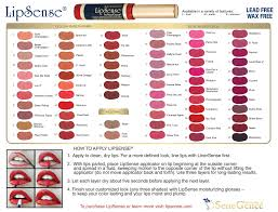 Lipsense Color Chart Ad Lipsense Color Chart With Directions 2015 1