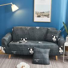black and white dogs sofa cover elastic