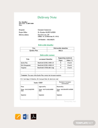 25 Delivery Note Templates Pdf Docs Word Free