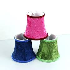 mini lamp shades for chandeliers small clip on lamp shades for chandelier red green blue flannel