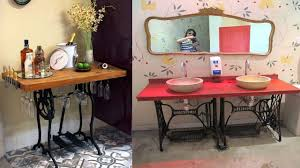 50 creative recycled old sewing machines ideas reuse old drawers cabinet table ideas