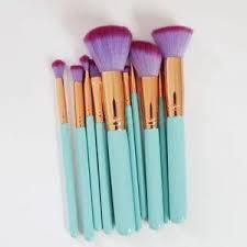 little mermaid makeup brushes. mermaid makeup brushes - 10 piece set little