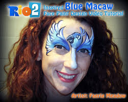 rio 2 inspired face paint design tutorial you