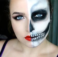half skeleton face makeup blend n smack tutorial 1 half skull half glam