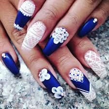 Awesome Blue and White Nail Designs | Design Trends - Premium PSD ...