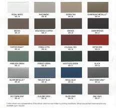 Steel Roof Color Chart Metal Roofing Color Chart Liberty Metal Works
