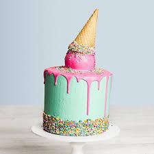 Ice Cream Cone Drip Cake