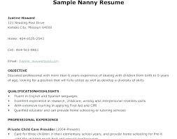 Nanny Resume Examples Gorgeous Sample Resume For Nanny Resume Examples For Nanny Position Nanny